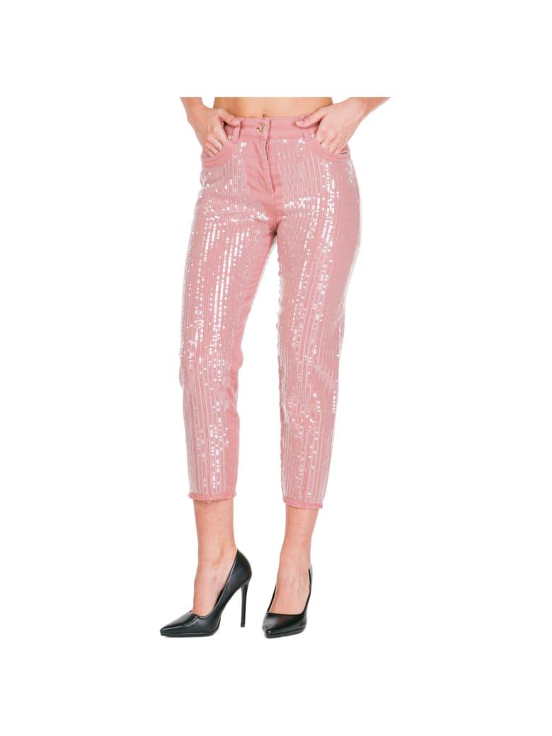 Blumarine Damen Enge Jeans Skinny - Rosa
