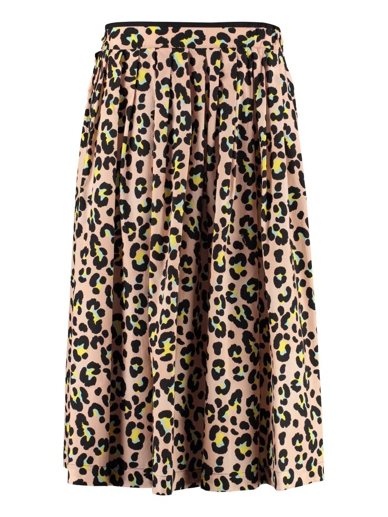 Jucca Cotton Midi Skirt - Pink