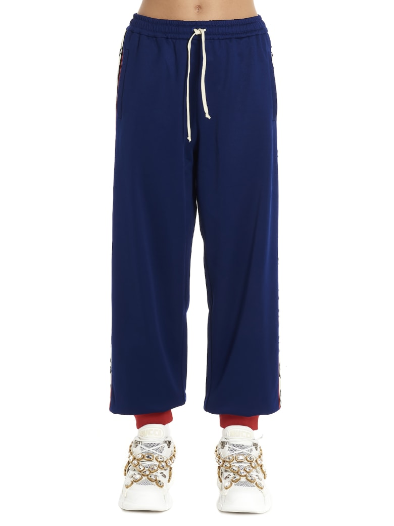 Gucci 'gg Web' Pants - Blue