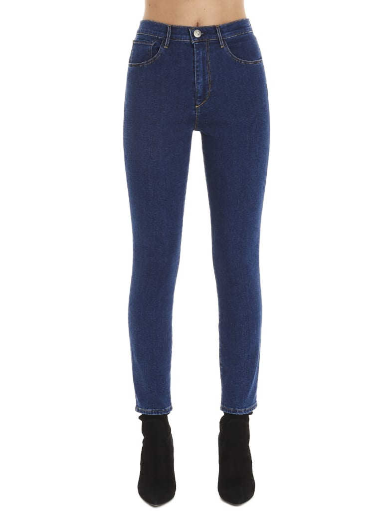 3x1 'high Rise Skinny Crop' Jeans - Blue