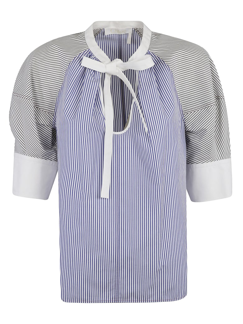 Chloé Stripe Print Blouse - Blue/White