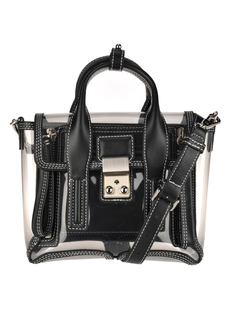 3.1 Phillip Lim Phillip Lim Transparent Pashli Mini Tote - BLACK