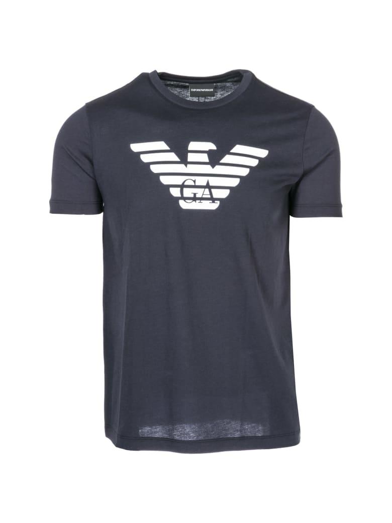 Emporio Armani  Short Sleeve T-shirt Crew Neckline Jumper - Blu