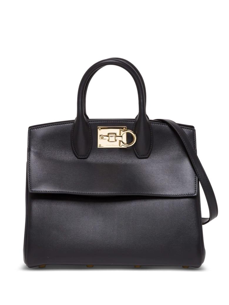 Salvatore Ferragamo The Studio Handbag In Black Leather - Black