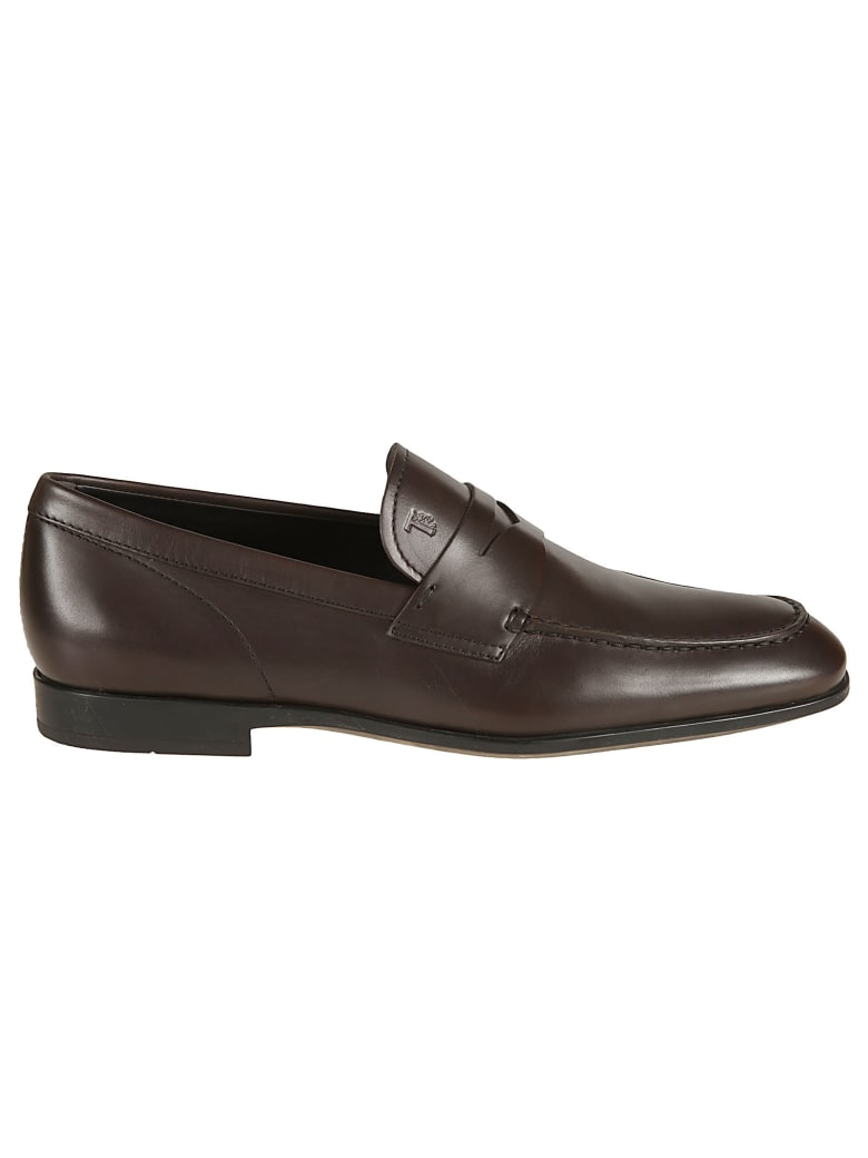 Tod's Classic Logo Stamped Loafers - Moro