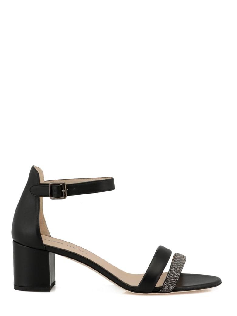 Fabiana Filippi Leather Heel Sandal - BLACK