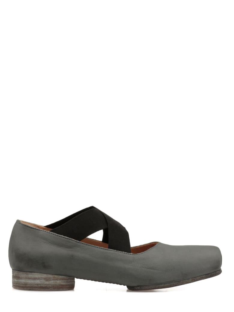 Uma Wang Crossover-strap Ballerina Shoes - Blue/black