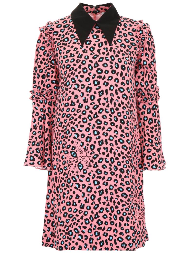 Vivetta Leopard Printed Midi Dress - PINK (Pink)
