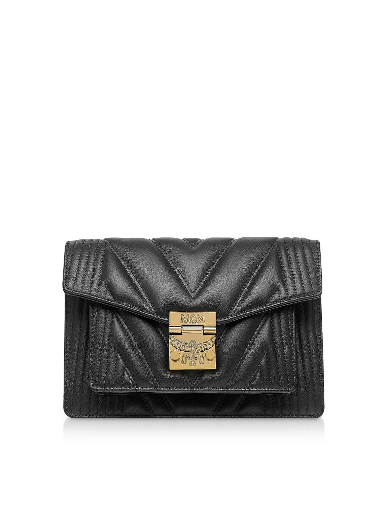 MCM Black Quilted Leather Patricia Crossbody Bag - Black