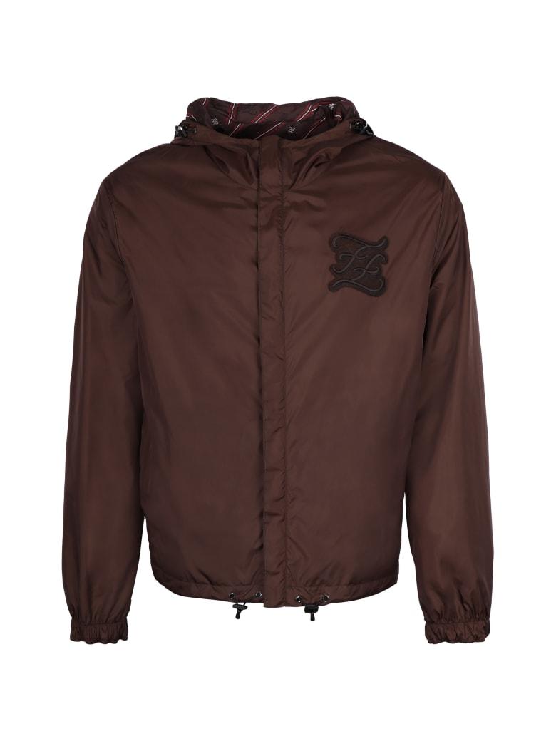 Fendi Reversible Windbreaker-jacket - brown
