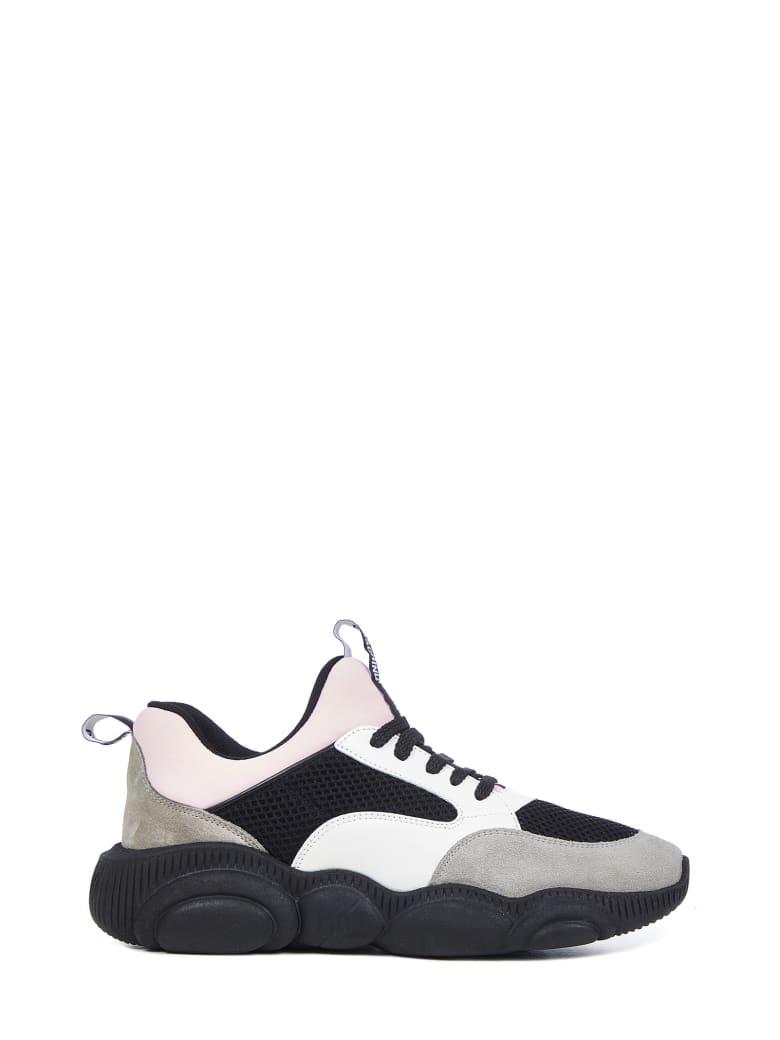 Moschino Teddy Sneakers - Nero bianco rosa