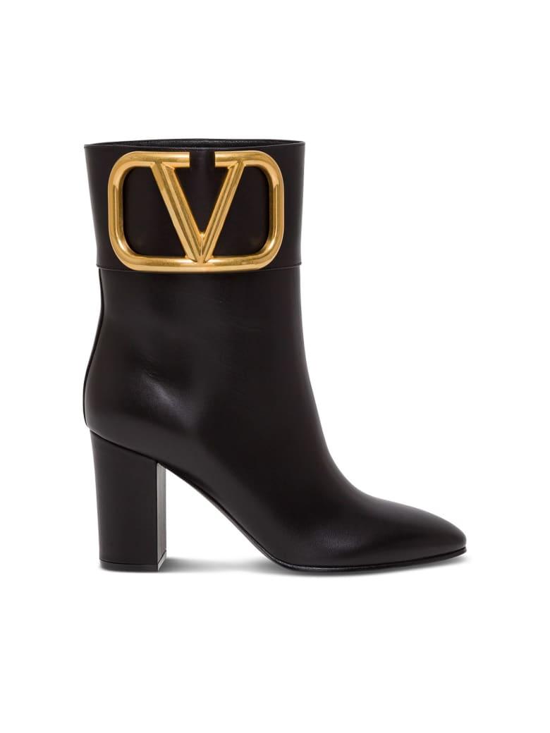 Valentino Garavani Supervee Leather Ankle Boots - Nero