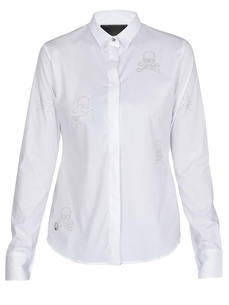 Philipp Plein Skull Shirts - WHITE