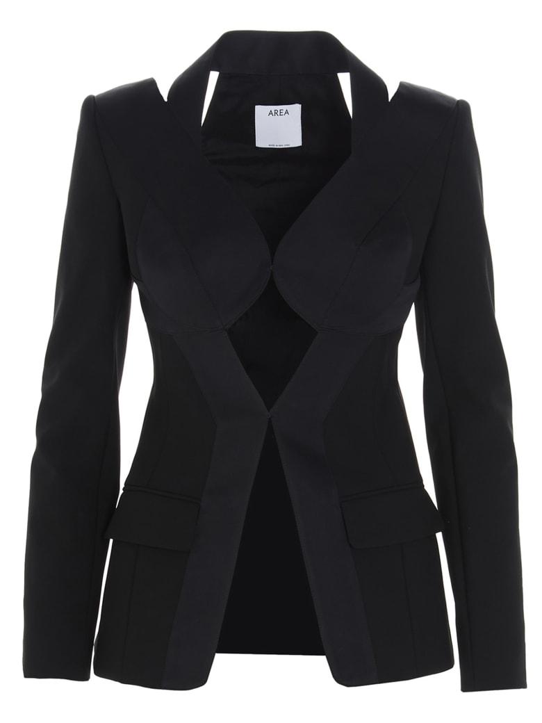AREA 'patchwork Tailoring' Blazer - Black