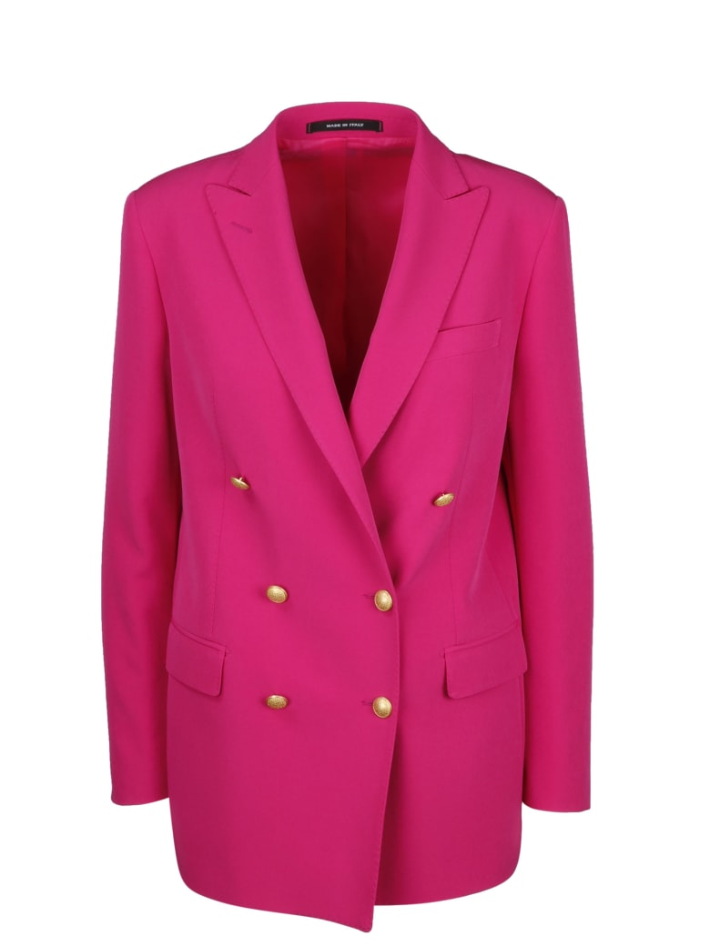 Tagliatore Jasmine Double-breasted Blazer - Pink & Purple