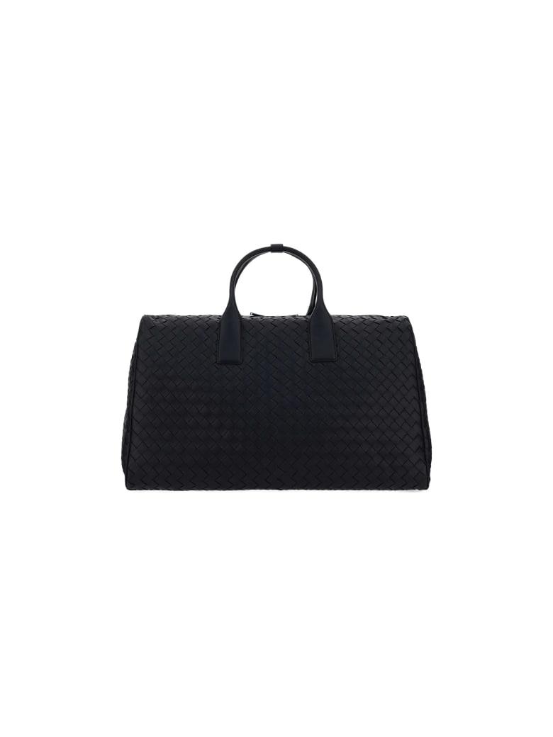 Bottega Veneta Intrecciato Travel Bag - Black/black-silver