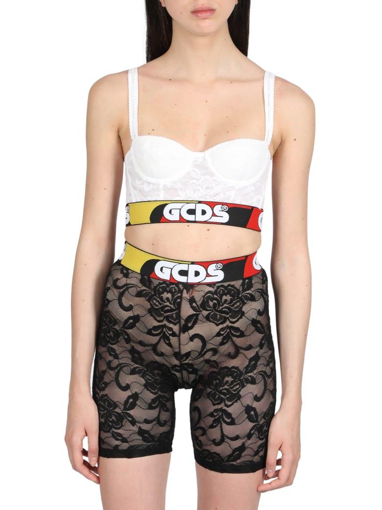 GCDS Lace Bra - Bianco