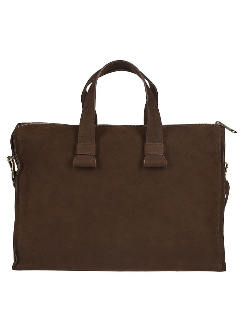 Orciani Double Handle Shoulder Bag - Cigar