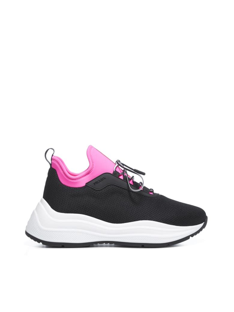 Prada Linea Rossa America's Cup Xl Sneakers - Nero rosa fluo