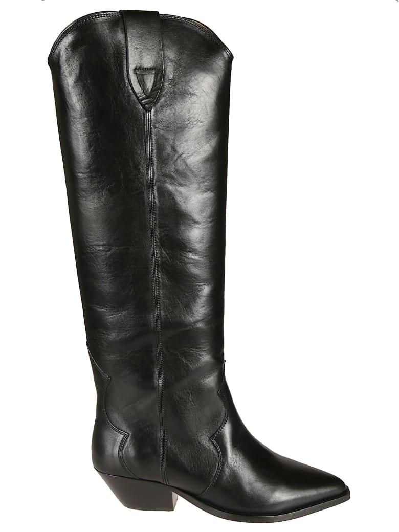 Isabel Marant Leather Iconic Boots - Black