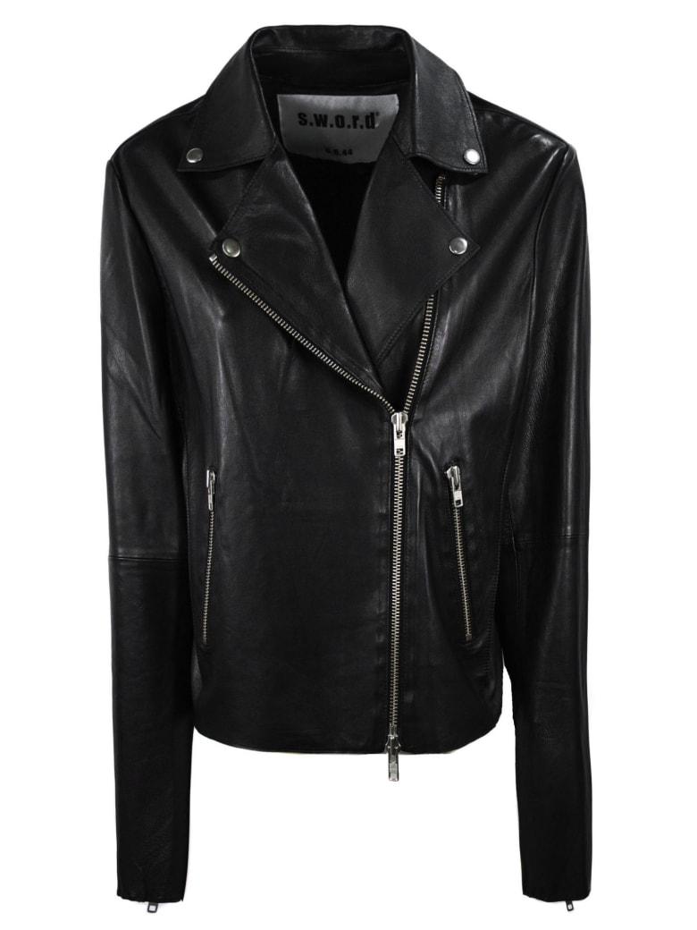 S.W.O.R.D 6.6.44 Black Biker Jacket - Nero