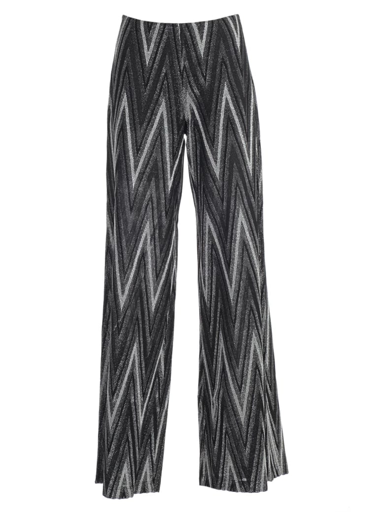 M Missoni Pants Wide Leg Lurex - H Nero Argento