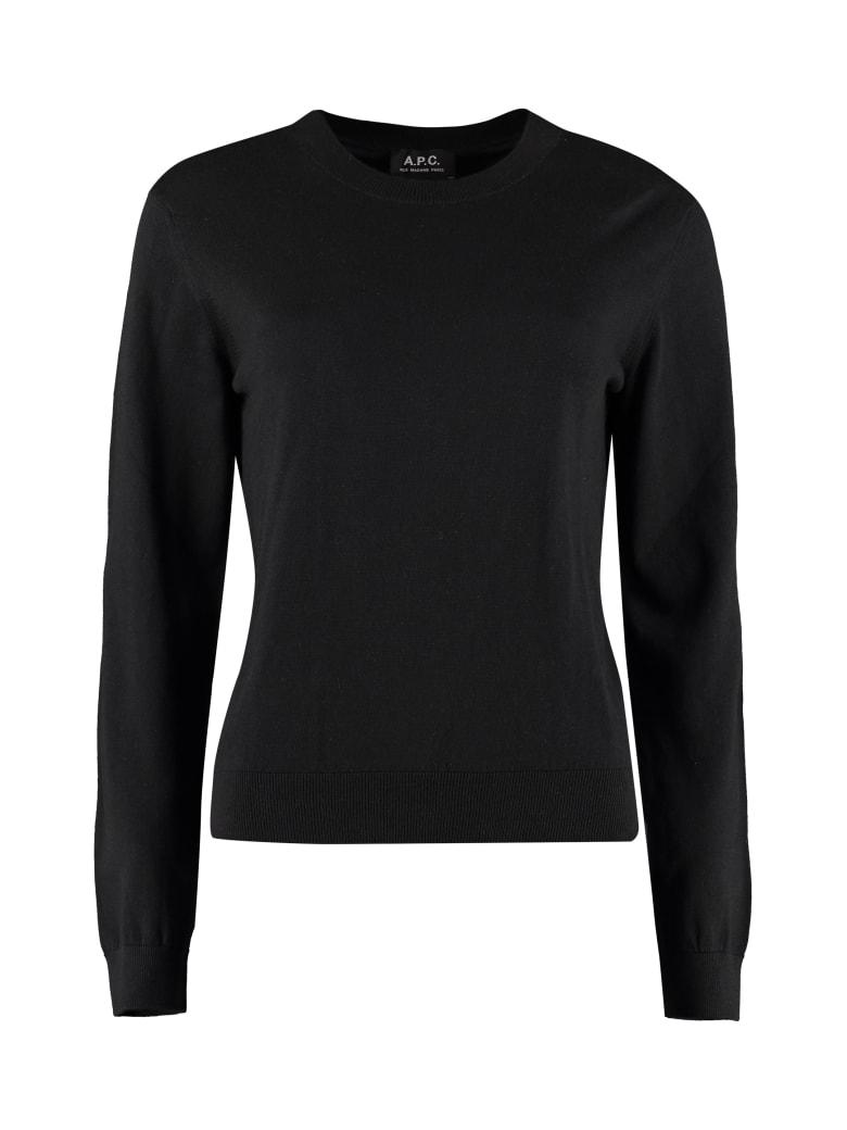 A.P.C. Juliette Cotton-cashmere Blend Pullover - black