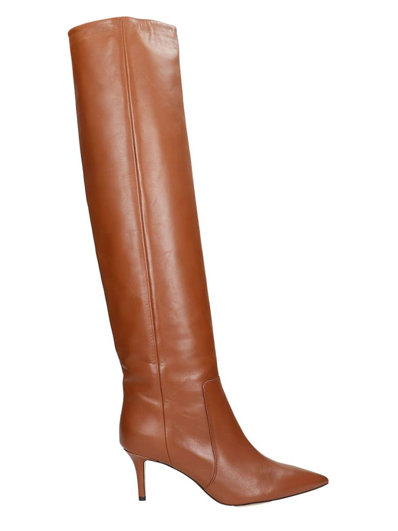 Fabio Rusconi High Heels Boots In Leather Color Leather - leather color