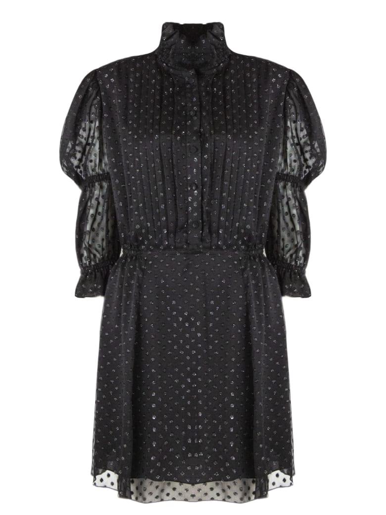 Philosophy di Lorenzo Serafini Black Polka Dots Dress - Nero