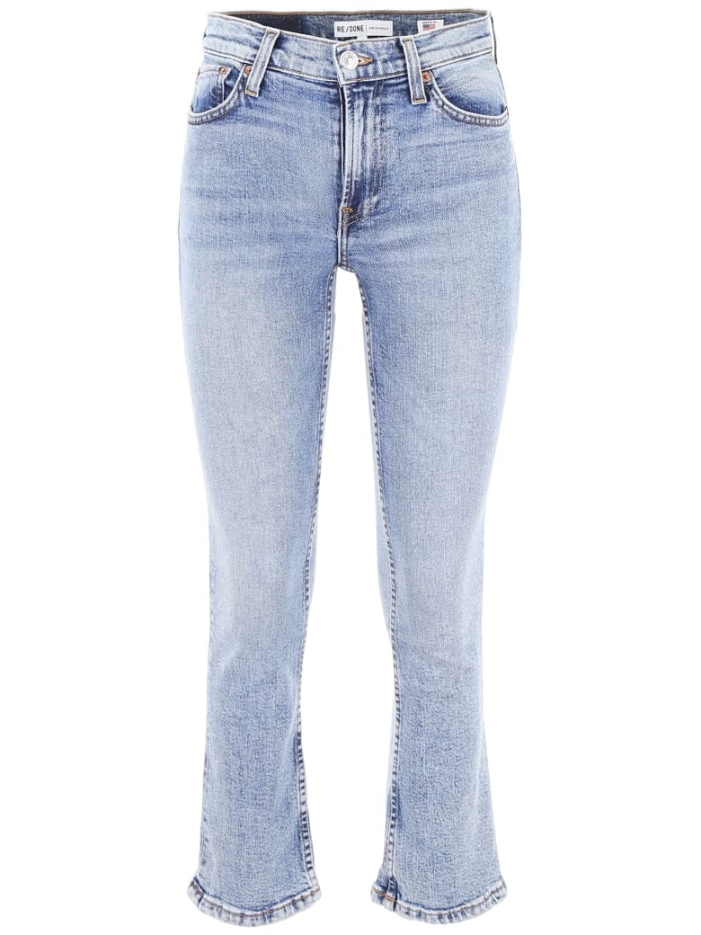 RE/DONE Kick Flare Jeans - MID 90S (Blue)