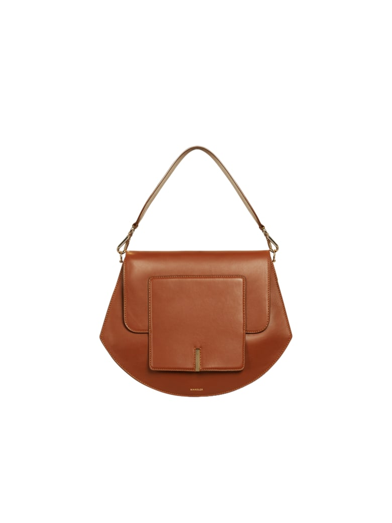 Wandler Magnetic Closure Long Strap - Tan Tan
