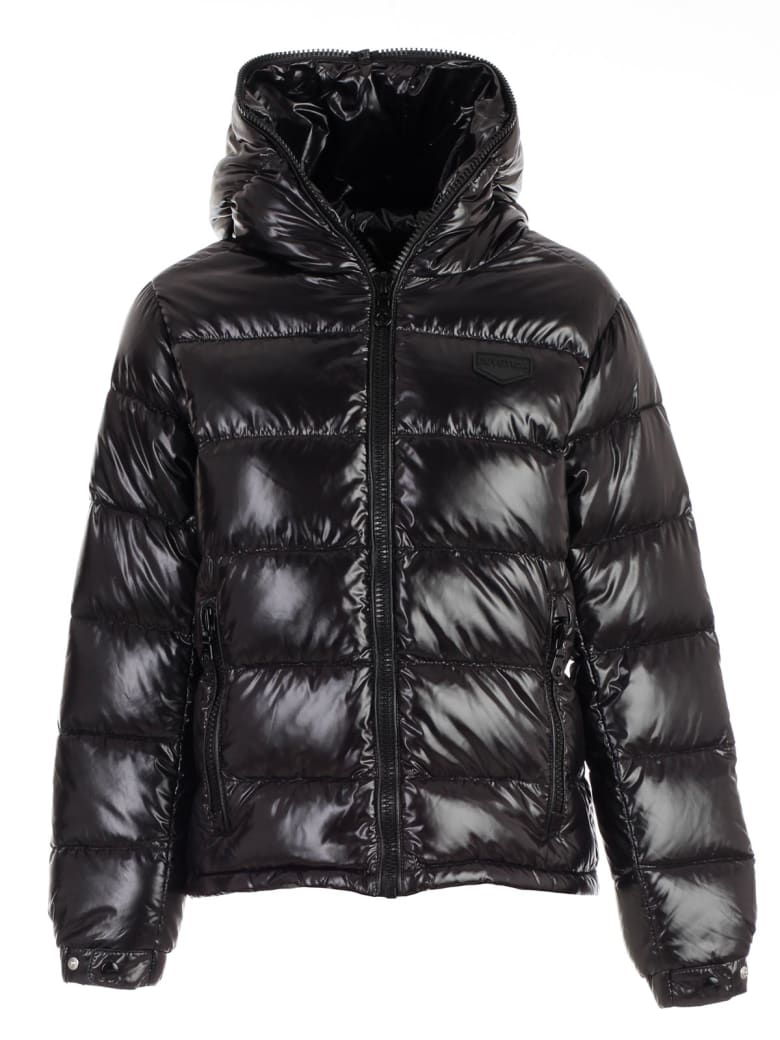 Duvetica Padded Jacket Short W/interior In Contrast - Nero