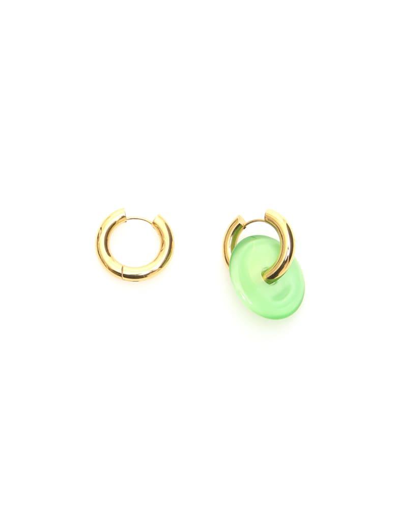 Timeless Pearly Single Pendant Earrings - LIGHT GREEN GOLD (Gold)