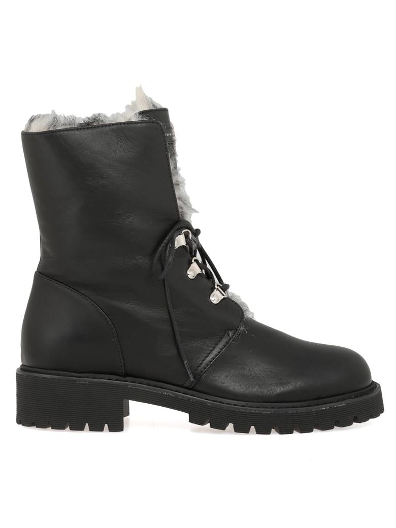 Giuseppe Zanotti Leather Army Boot - Black