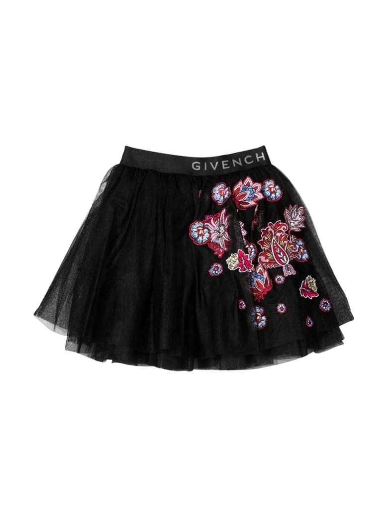 Givenchy Black Skirt With Print - Nero