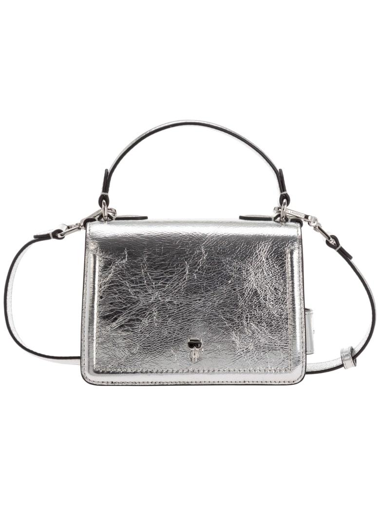 Karl Lagerfeld K/ikonik Shoulder Bag - Silver