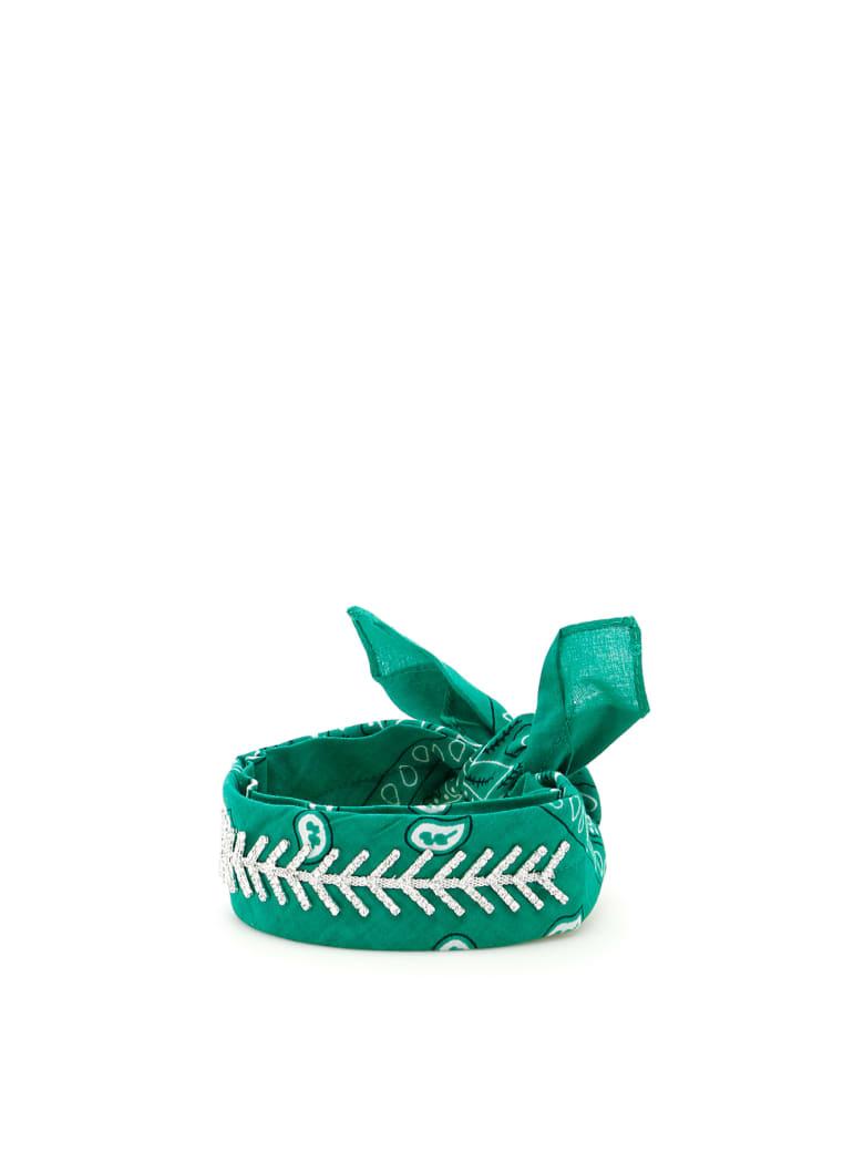 Fallon Monarch Diamante Choker - SHAMROCK (Green)