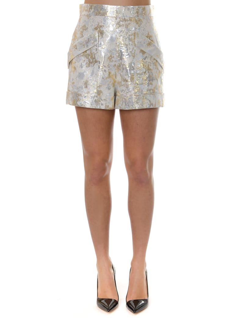 Lanvin Gold Lamé Jacquard Shorts - Gold