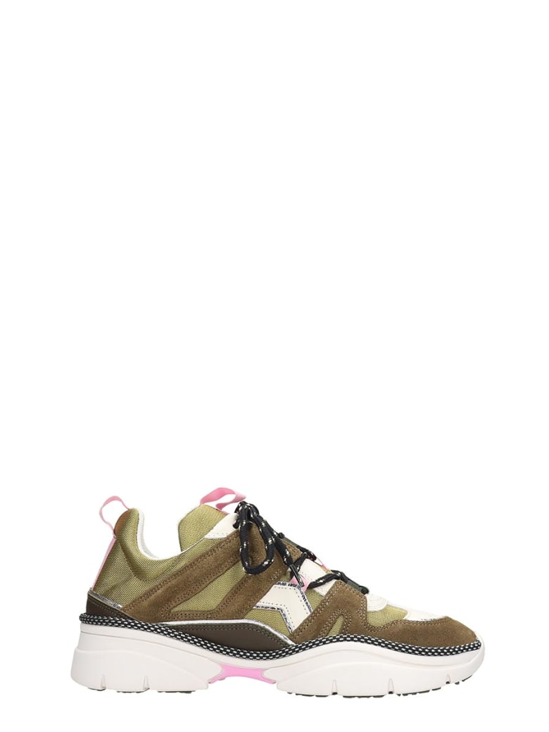 Isabel Marant Kindsay Baskets Sneakers In Brown Tech/synthetic - brown