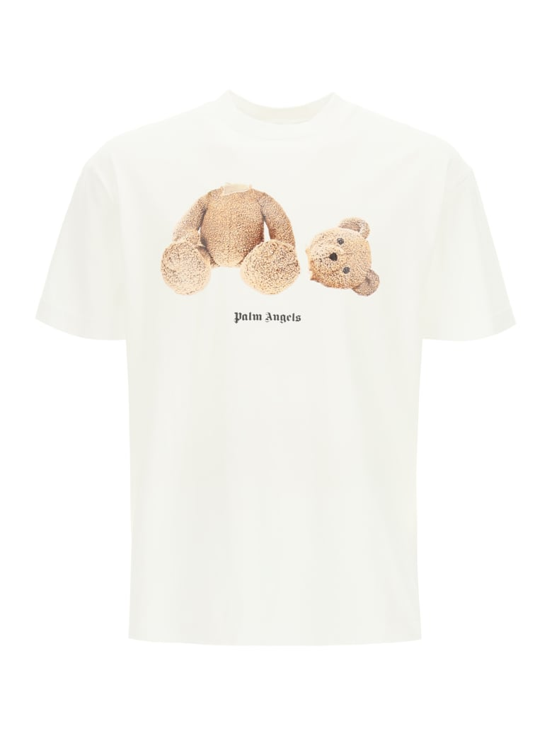Palm Angels Ice Bear Print T-shirt - Bianco