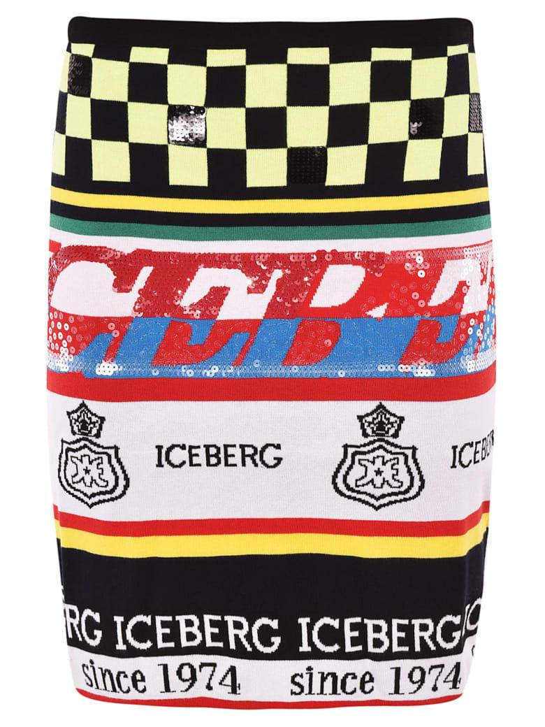 Iceberg Logo Multipattern Skirt - Multicolor