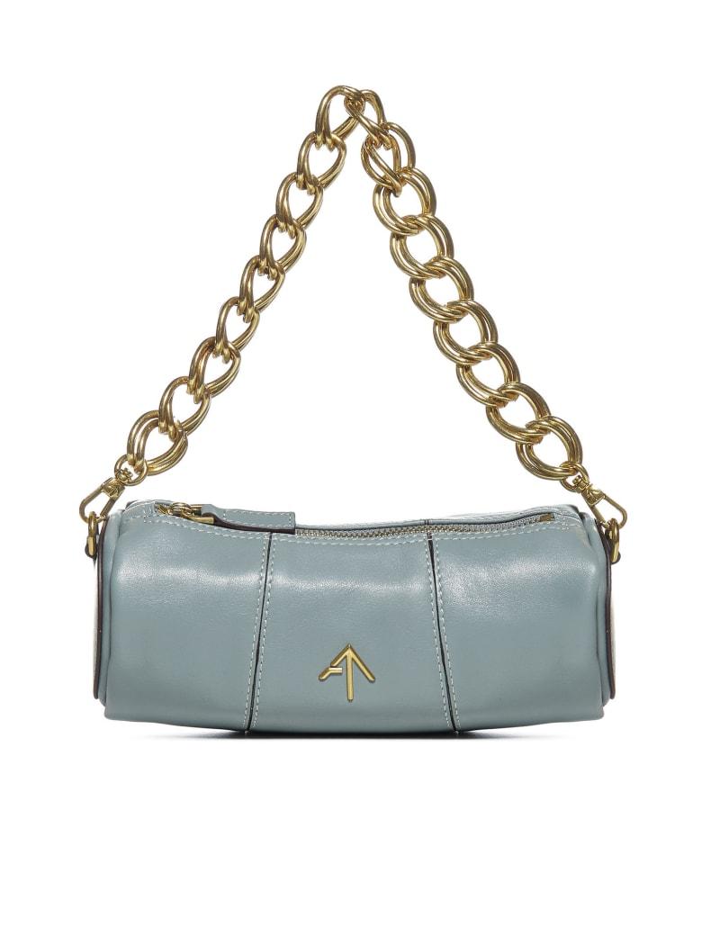 MANU Atelier Xx Mini Cylinder Leather Bag - Stone blue