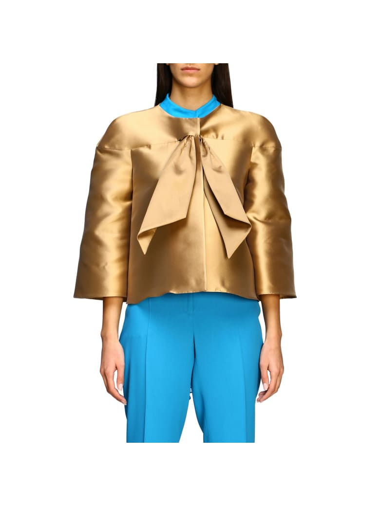 Alberta Ferretti Jacket Alberta Ferretti Jacket In Mikado Without Collar - gold