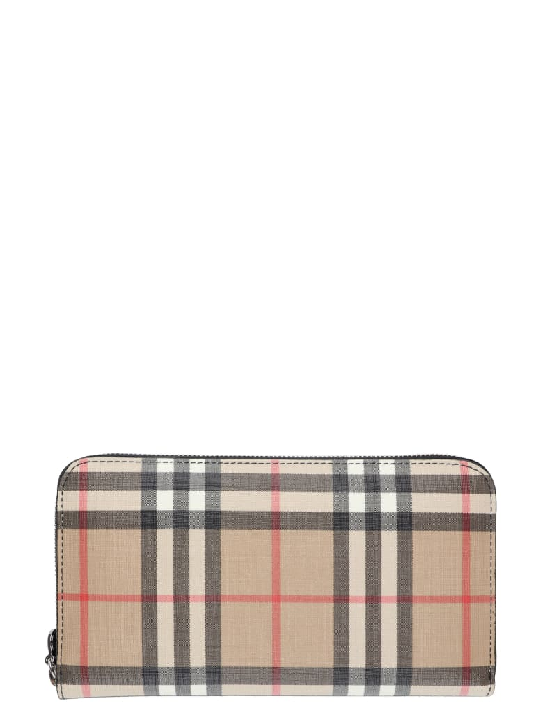 Burberry Checked Fabric Wallet - black