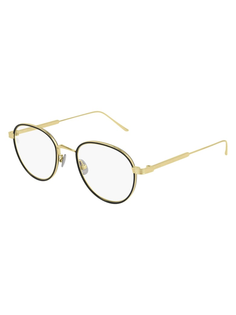 Cartier Eyewear CT0250O Eyewear - Gold Gold Transparent
