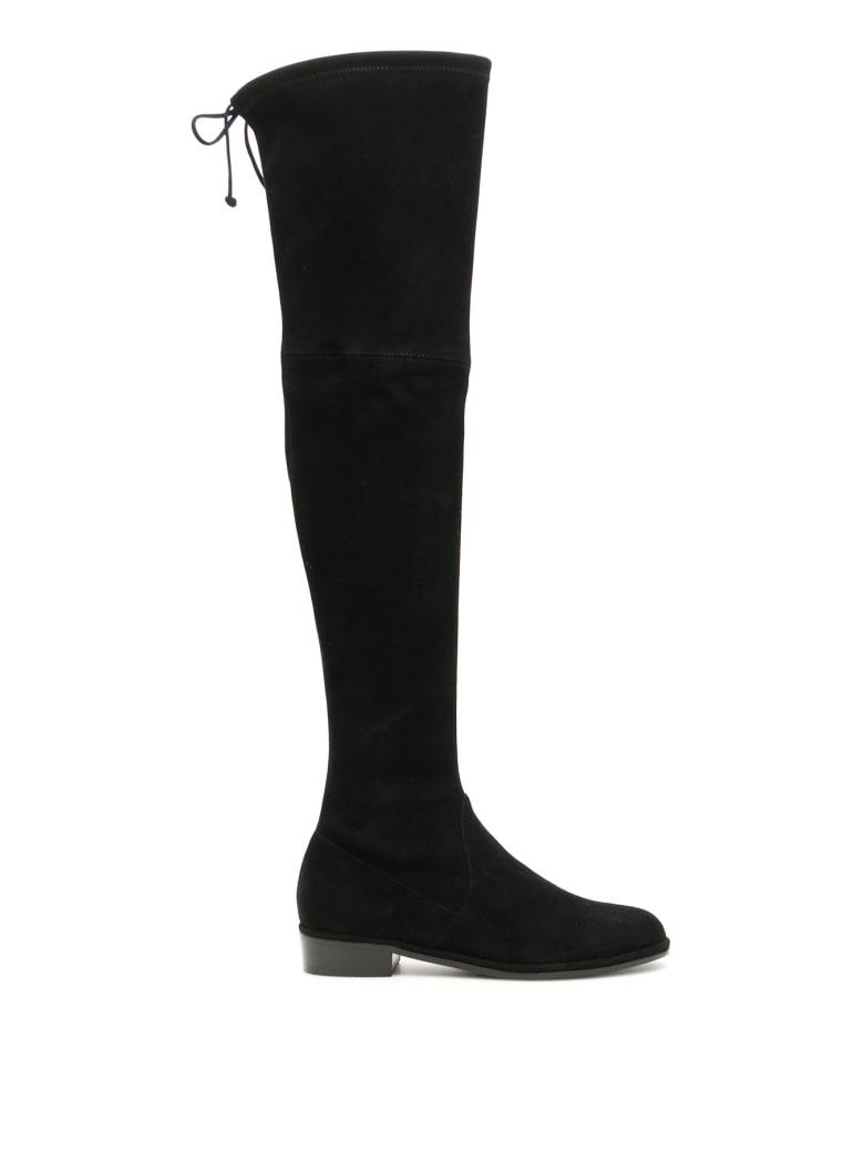 Stuart Weitzman Suede Lowland Boots - BLACK (Black)