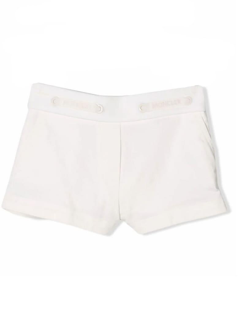 Moncler White Cotton Shorts - Bianco