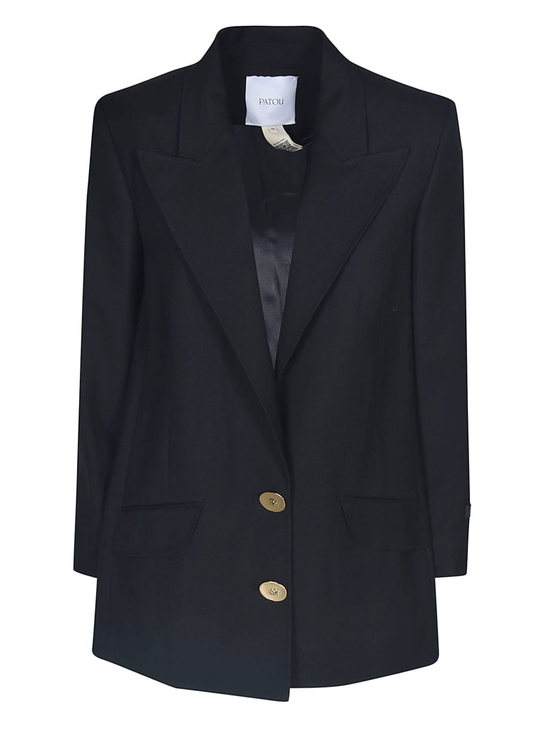 Patou Single Breasted Iconic Jacket - Black