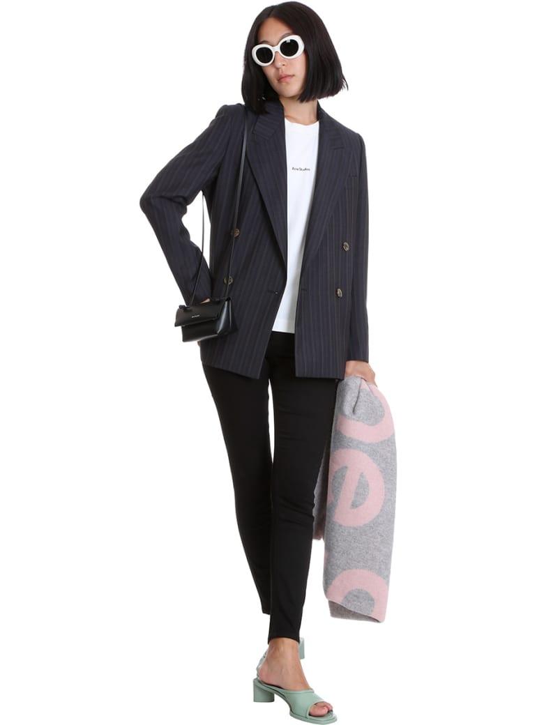 Acne Studios Climb Stay Jeans In Black Denim - black