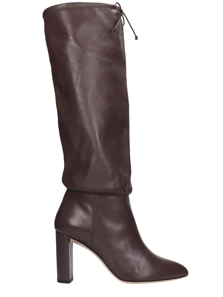 Dei Mille Boots In Brown Leather - brown